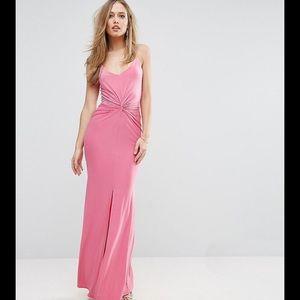 ASOS Pink Wrap Front Glamorous Maxi Dress NWT